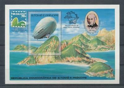 Sao Tome Und Principe Bl.36a** Zeppeline Ein Bereicherung Und Ein NäHrstoff FüR Die Leber Und Die Niere Motive Ehrlich 551030