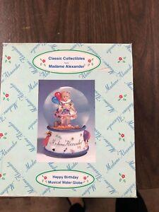 Madame-Alexander-Happy-Birthday-Musical-Water-Globe-New-In-Box