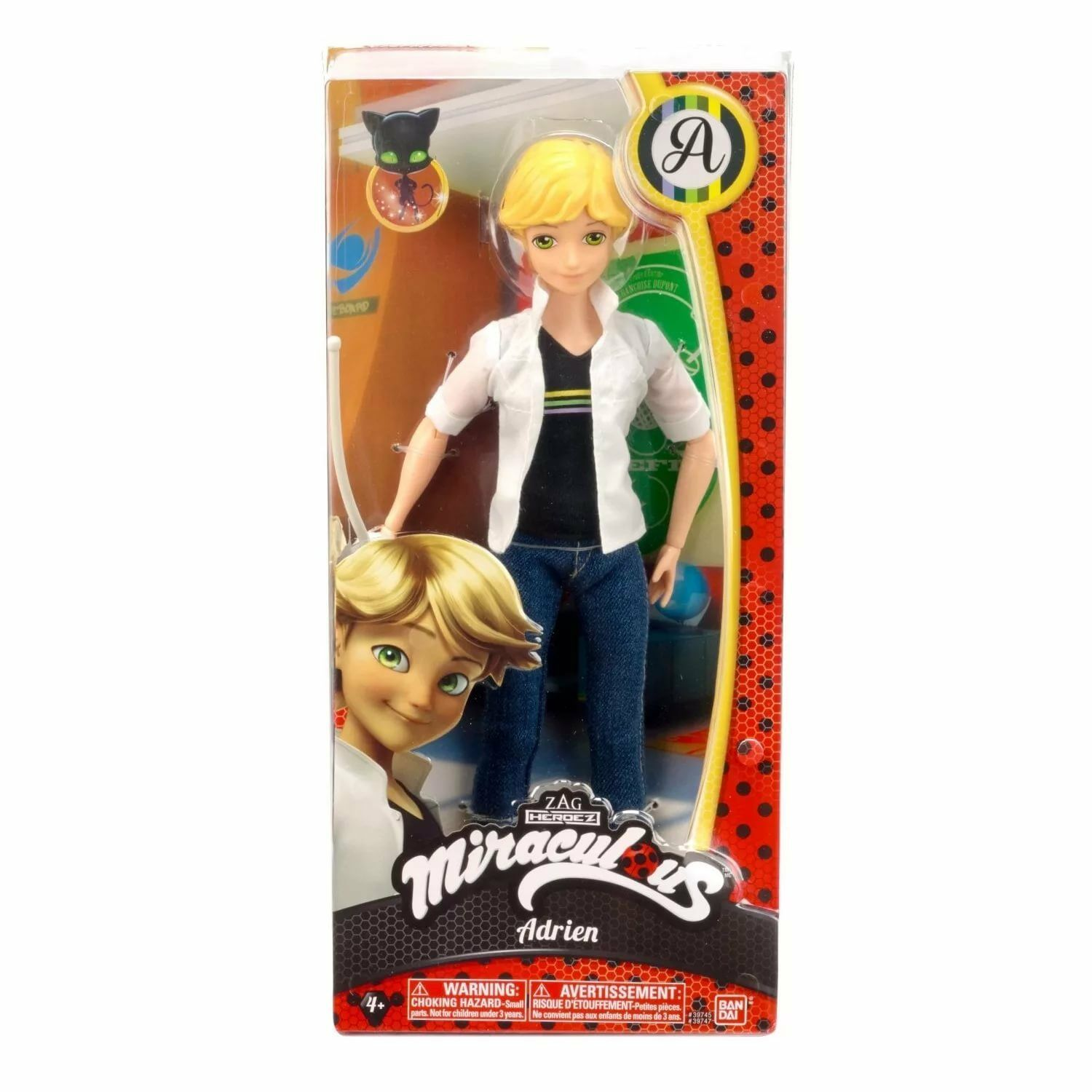 Miraculous Adrien 10,5      Action Figure Bandai New in box 8a6775