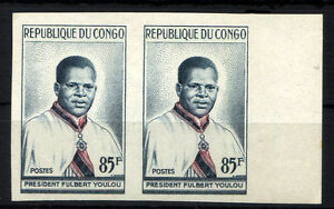 FRANCE-CONGO-Yv-138-pair-imperforate-MNH