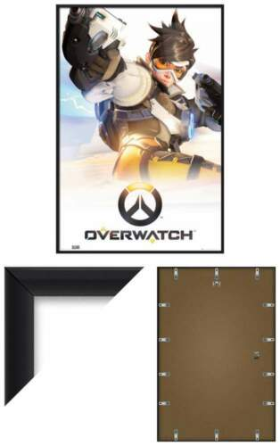 PRINT OVERWATCH GAME COVER // KEY ART FRAMED GAMING POSTER