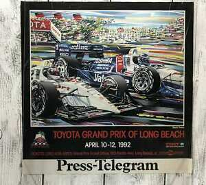 Vintage-LONG-BEACH-Toyota-Grand-Prix-Racing-1992-Poster-23x23-Promotion