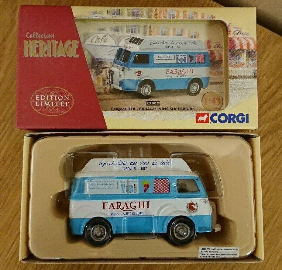 CORGI EX70629 PEUGEOT D3A faraghi Vins superieurs Ltd Edition N. 0002 del 2010