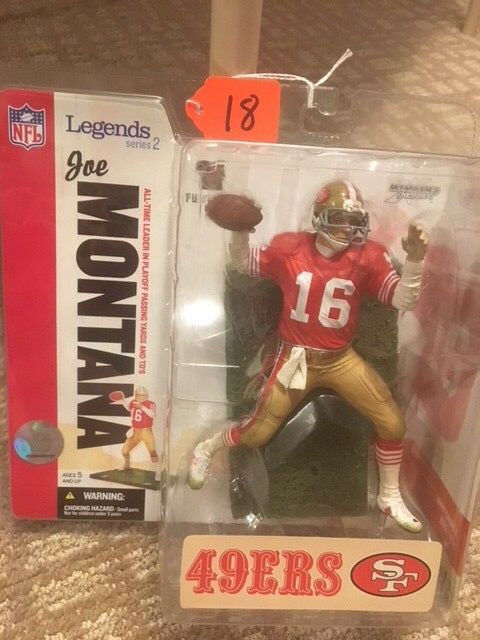 NEW NFL Football McFarlane Toys Legends Joe Montana Figure 787926743920
