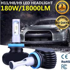 2x H11 180W 18000LM PHILIPS Headlight Single Beam Bulbs CSP LED 12V H8 H9 6500K
