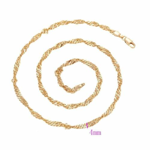 """4mm Necklace Mother Day Xmas p956 p957 SALE 9ct 9K /"""" Gold Filled /"""" Prom Girl 2"""