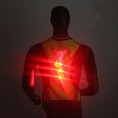 Flashing LED Light Up Safety Reflective Vest Belt Night Cycling Running B6S3