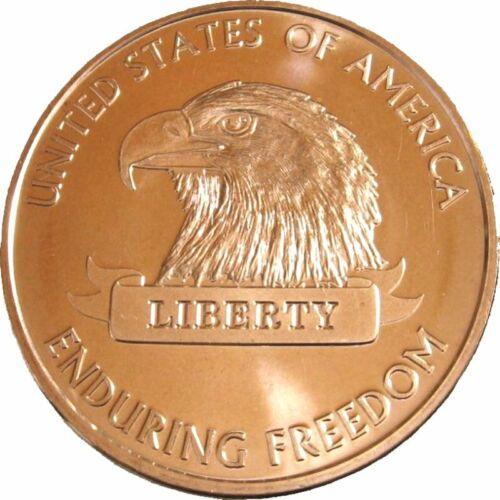 Enduring Freedom Series 1 oz .999 Pure Copper BU Round Presston Mint s