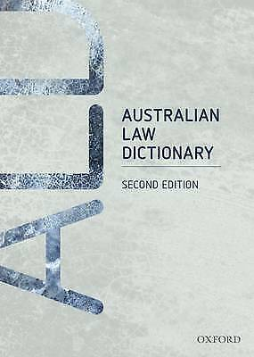 Oxford Australian Law Dictionary Second edition AS NEW