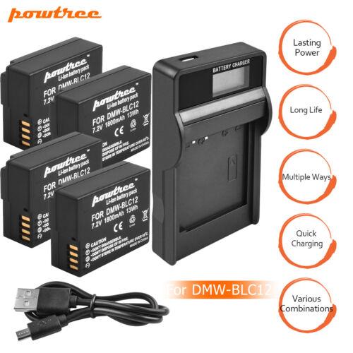 DMW-BLC12 Batería Cargador para Panasonic Lumix DMC-GH2 G5 G6 GX8 G 85 Powtree eg