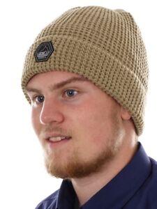 O-039-Neill-Beanie-Bonnet-tricote-hiver-beige-jones-reflechissant-chaud