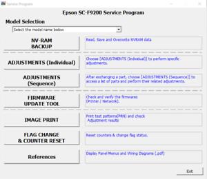 Service Program for Epson SureColor  Series SC-F9200 Free PDF Manual