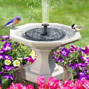 Image Is Loading Outdoor Solar Power Bird Bath Water Fountain Pump