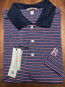 97eabba3d92 Peter Millar Blue Belmont Country Club MA E4 Summer Comfort Polo ...