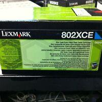 Original Lexmark 802xce 80C2XCE Toner cyan CX510 4000S A-Ware wie 802XC 80C2XC0