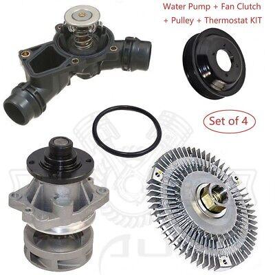 Thermostat Fan Clutch Fan Blade Kit BMW E46 3 Series X5 New Water Pump
