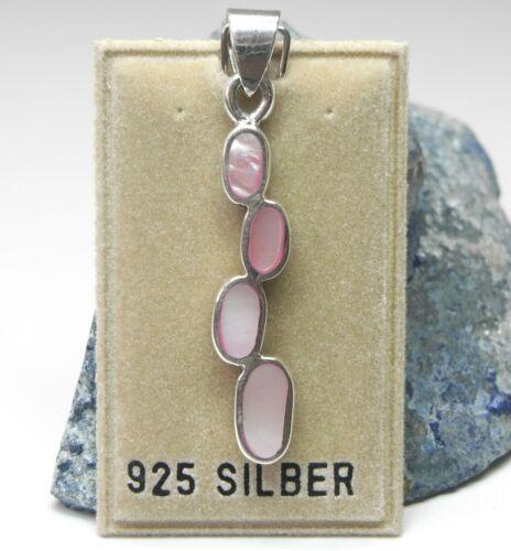 NEU 925 Silber KETTENANHÄNGER mit PERLMUTT in rosa ANHÄNGER für KETTEN