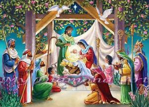 NEW Diamond Painting Kit Nativity Scene 5D DIY My Diamond Art