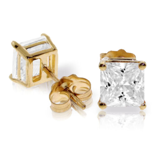Details about  /4 CTW 14K Solid Gold Caress Cubic Zirconia Earrings