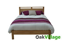 Bloomsbury Oak 4ft 6 Double Bed / Queen Size Bed / Shaker Bed Frame / Brand