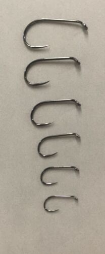 Hogskin Creek Fly Tying Hooks Barbless Hook NWM69 Black Nickel  50 ct box