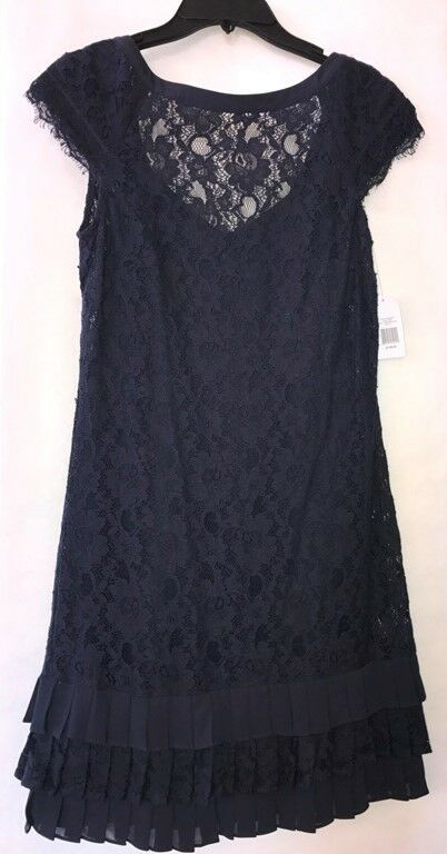 Jessica Simpson Dress Navy Lace Sz 2 NWT