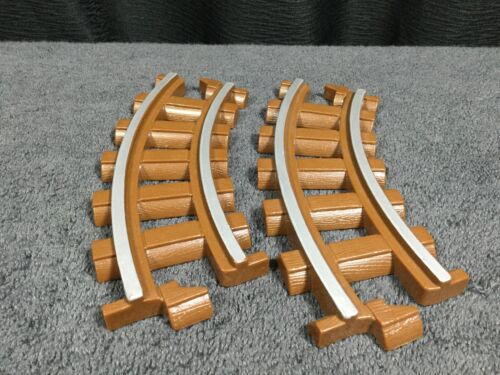 "Lot of 2 Lincoln Logs 6/"" Curved Railroad Train Track Replacement Pieces"