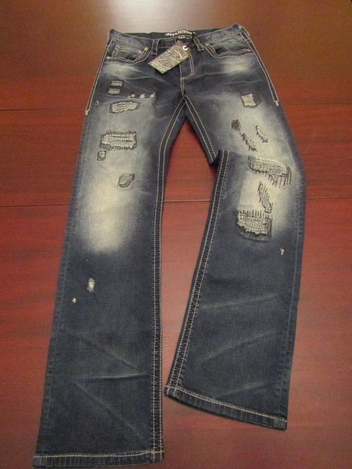 Mens affliction faded repaired jeans 32x34 nwt  blake rising critter
