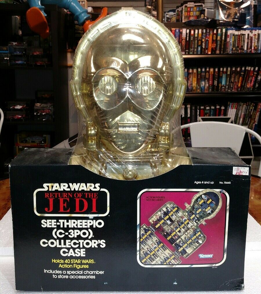 STAR WARS ROTJ C3PO COLLECTORS CASE 1983 SEALED HOLD 40 FIGURES NOT INCLUDED