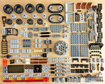 154 Pieces Towing Tires Wheels Towballs Crane LEGO TRAILER SPECAILTY PARTS LOT