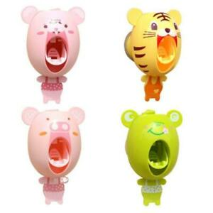 Automatic Toothbrush Holder Set Toothpaste Dispenser Squeezer For Kids Cartoon