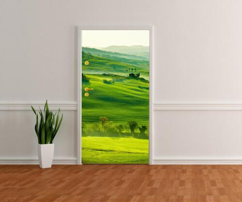 Türtapete Grüne Toskana Tapete Kunstdruck Türbild M0512
