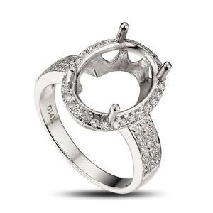 Pear Shape 10x13MM 14K White Gold Semi Mount Ring  Diamond Ring