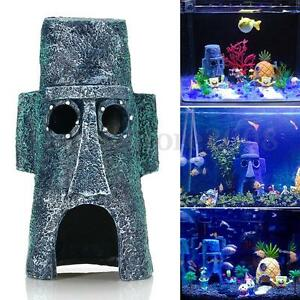 aquarium landscaping decoration aquatic squidward house home fish tank ornament 997673301780 ebay. Black Bedroom Furniture Sets. Home Design Ideas