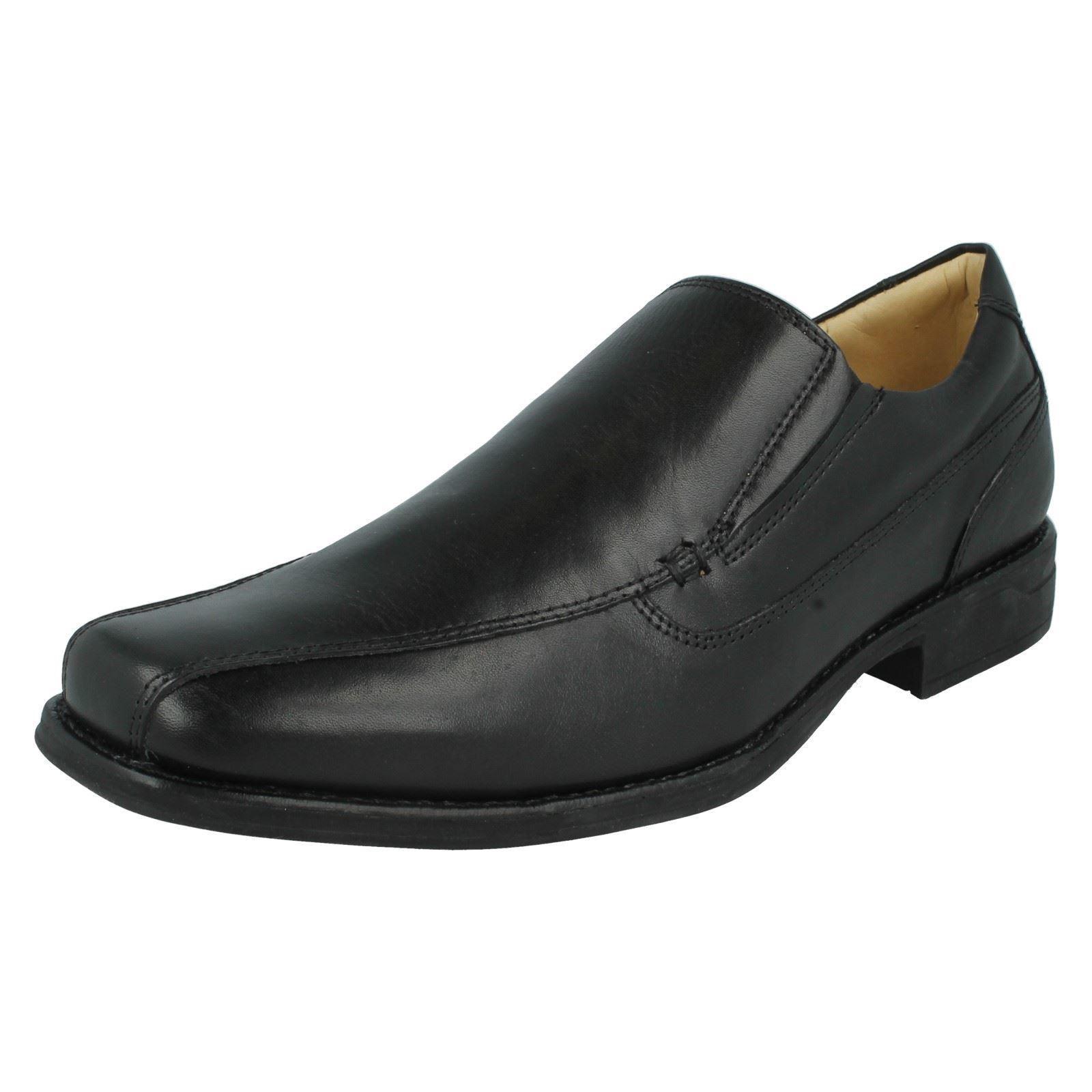 Herren Poloni schwarzes Leder Slipper von Anatomic Gel