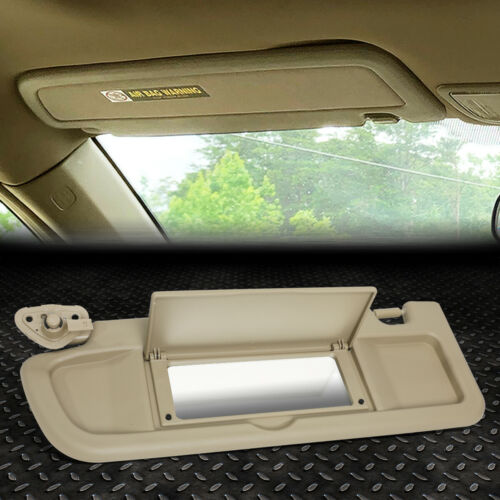 Para 06-11 Honda Civic OE Estilo Lado Esquerdo Motorista viseira de sol para-sol Com Espelho Tan