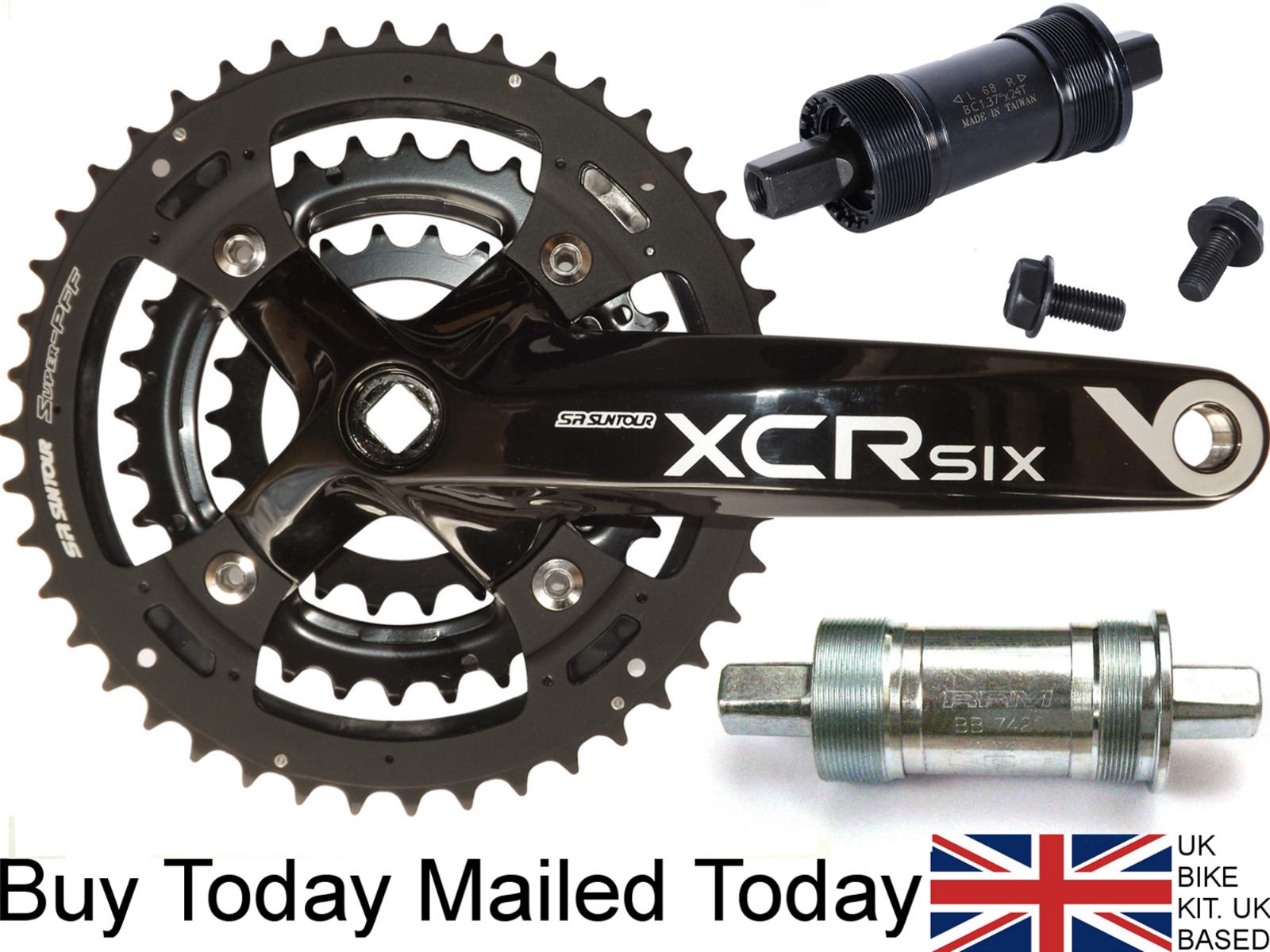 Suntour XCR CHAINSET Alloy 175mm Crank Bike 8 9 Speed Shimano Compatible22 32 44