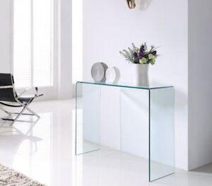 Consolle ingresso tavolo da pranzo salotto soggiorno vetro for Consolle in vetro per ingresso