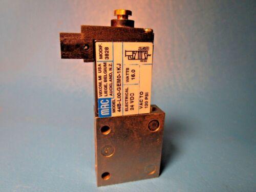 MAC VALVE 44B-L00-GEM0-1KJ PNEUMATIC 120 PSI 24VDC 16W