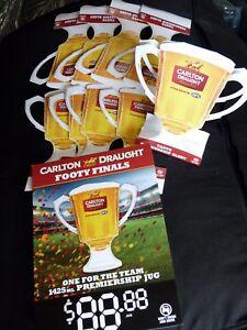 NEW-6-x-Paper-Promo-AFL-Carlton-Draught-Premiership-Cup-Grand-Final-Cardboard