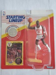 1991 Michael Jordan Starting Lineup w/ Collector Coin (Dunking Position) Rare!!!