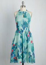Modcloth Plus Size 4X  Novelty Cactus Print Halter Midi Dress
