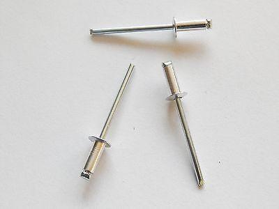 100 Blindnieten Popnieten Alu/Stahl 4,0 x 16,0 mm Nieten Flachkopf DIN 7337