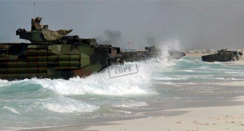USMC US MARINE CORPS Amphibious Assault Vehicles 8X12 PHOTOGRAPH AAV7A1