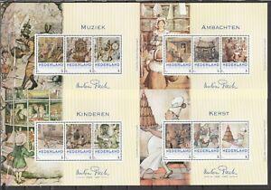 Nederland 3012 4 velletjes Anton Pieck voor boek Anton Pieck 1895-1987