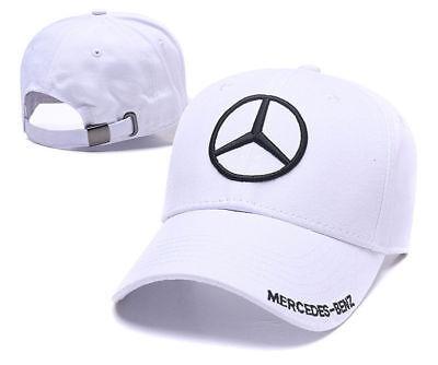 New Fashion BENZ² Logo AMG Car Cap Sport Baseball Hat outdoor Adjustable White