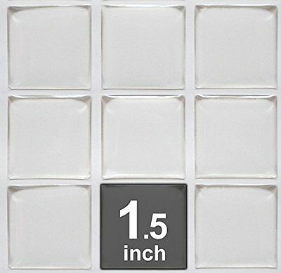 """1.5/"""" - Square Clear Epoxy Stickers 3//2/"""" FREE SHIPPING 38.1mm 1.5 inch"""