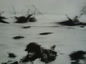 Photograph of the D-Day WWII Omaha Beach Landing June 6 1944 8x10
