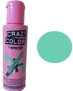 image is loading crazy color peppermint coloration creme semi permanente cheveux - Crazy Color Nuancier