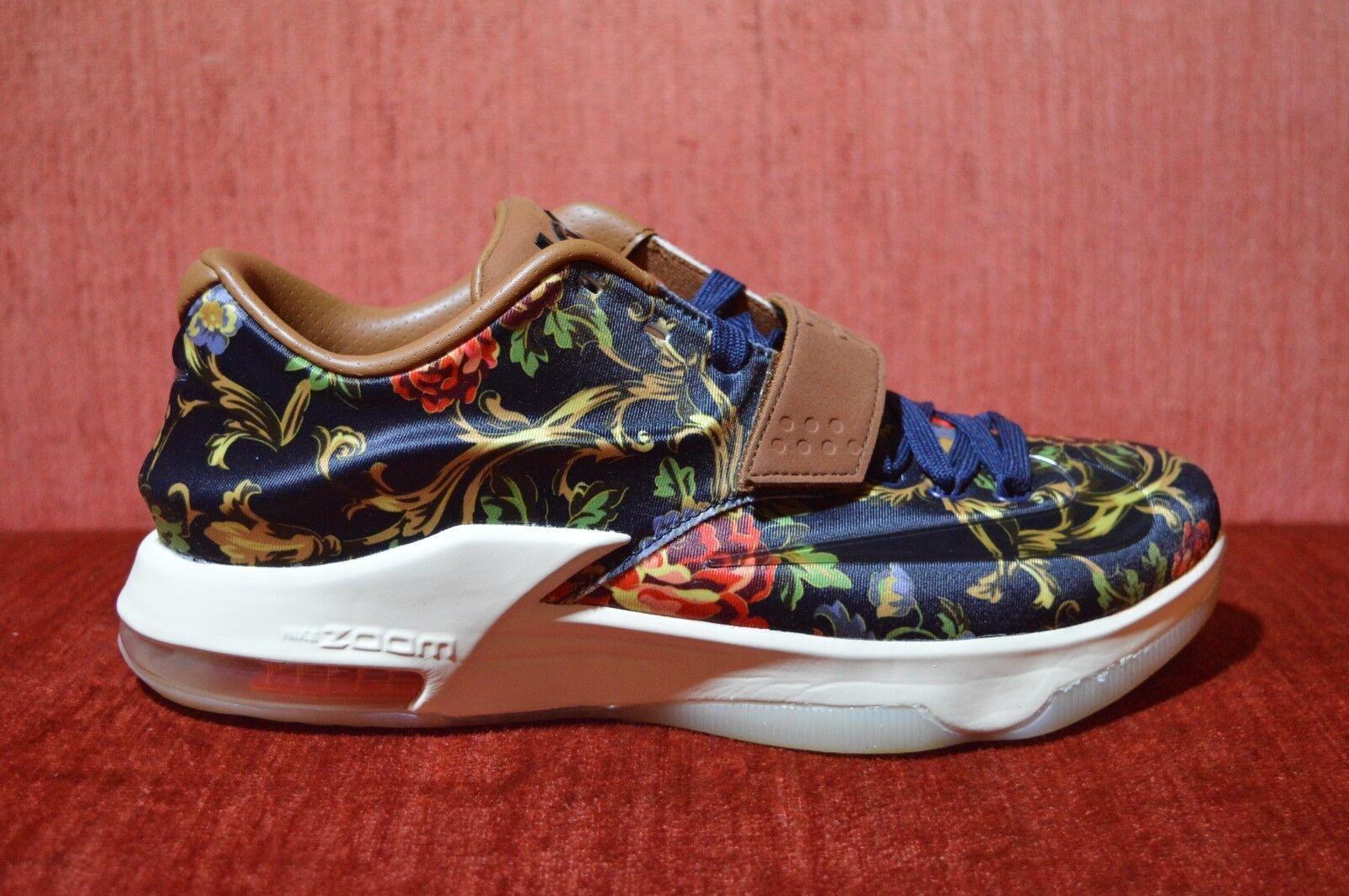 b08357f70906 WORN 1X Nike KD 7 EXT Floral Print Mens shoes shoes shoes Rare Size 9 726438